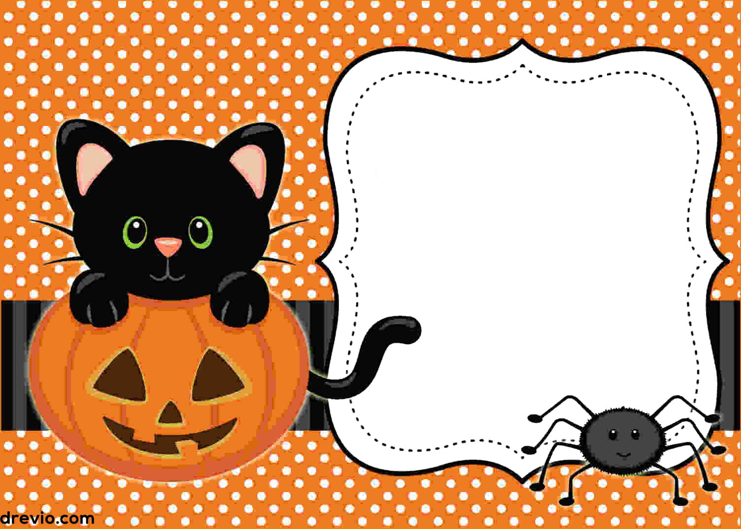 FREE Printable Halloween Invitations Templates | Drevio ...