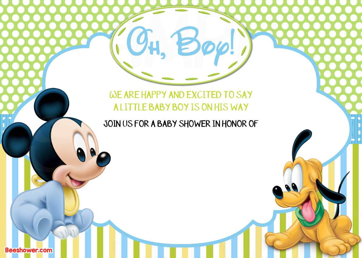 FREE Printable Disney Baby Shower Invitations | FREE ...
