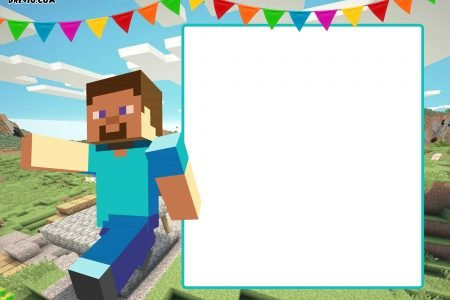 photo relating to Printable Minecraft named Totally free Printable Minecraft Birthday Invitation Template