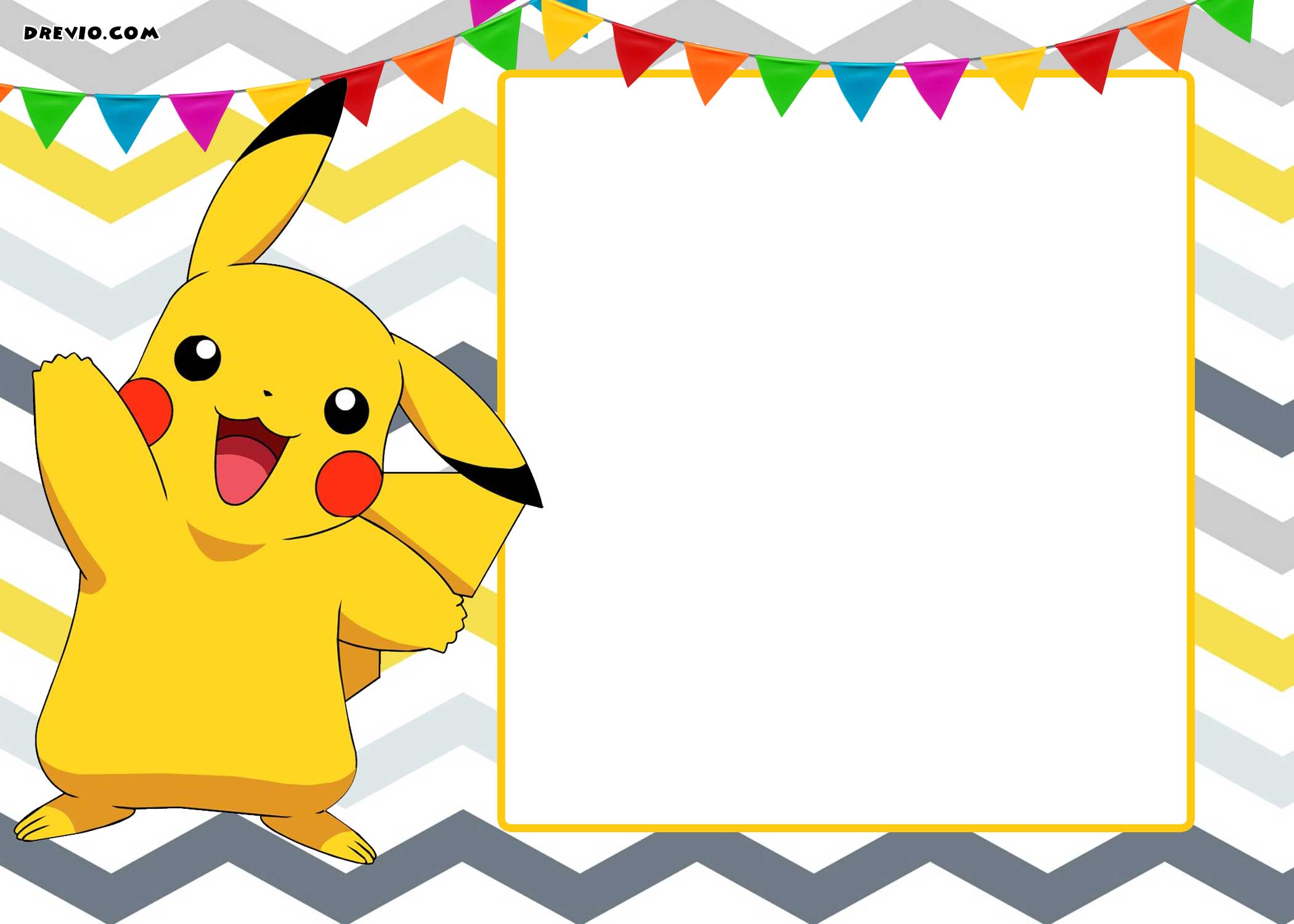 Epic image in pokemon party invitations free printable