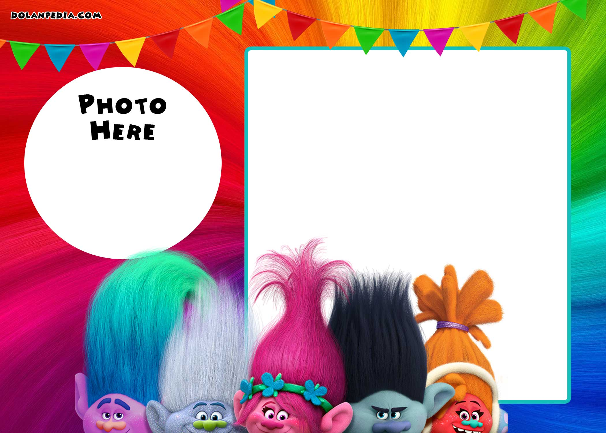 Smart image throughout trolls birthday invitations printable