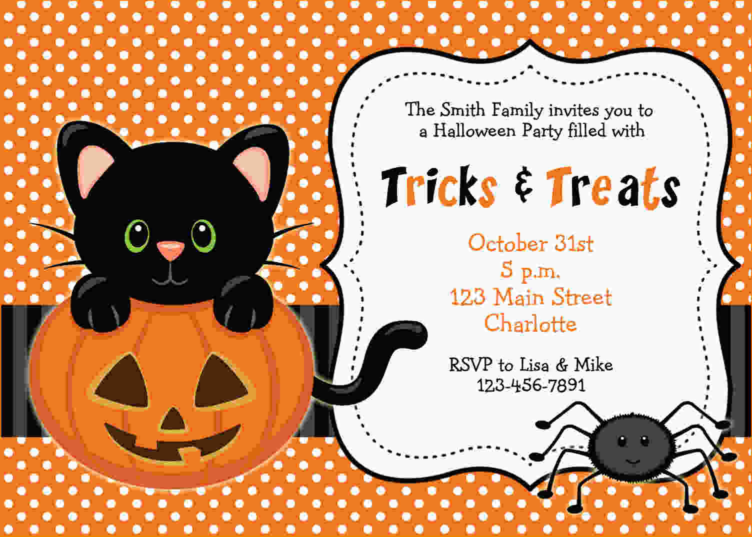 FREE Printable Halloween Invitations Templates Drevio Invitations - Halloween baby shower invitations