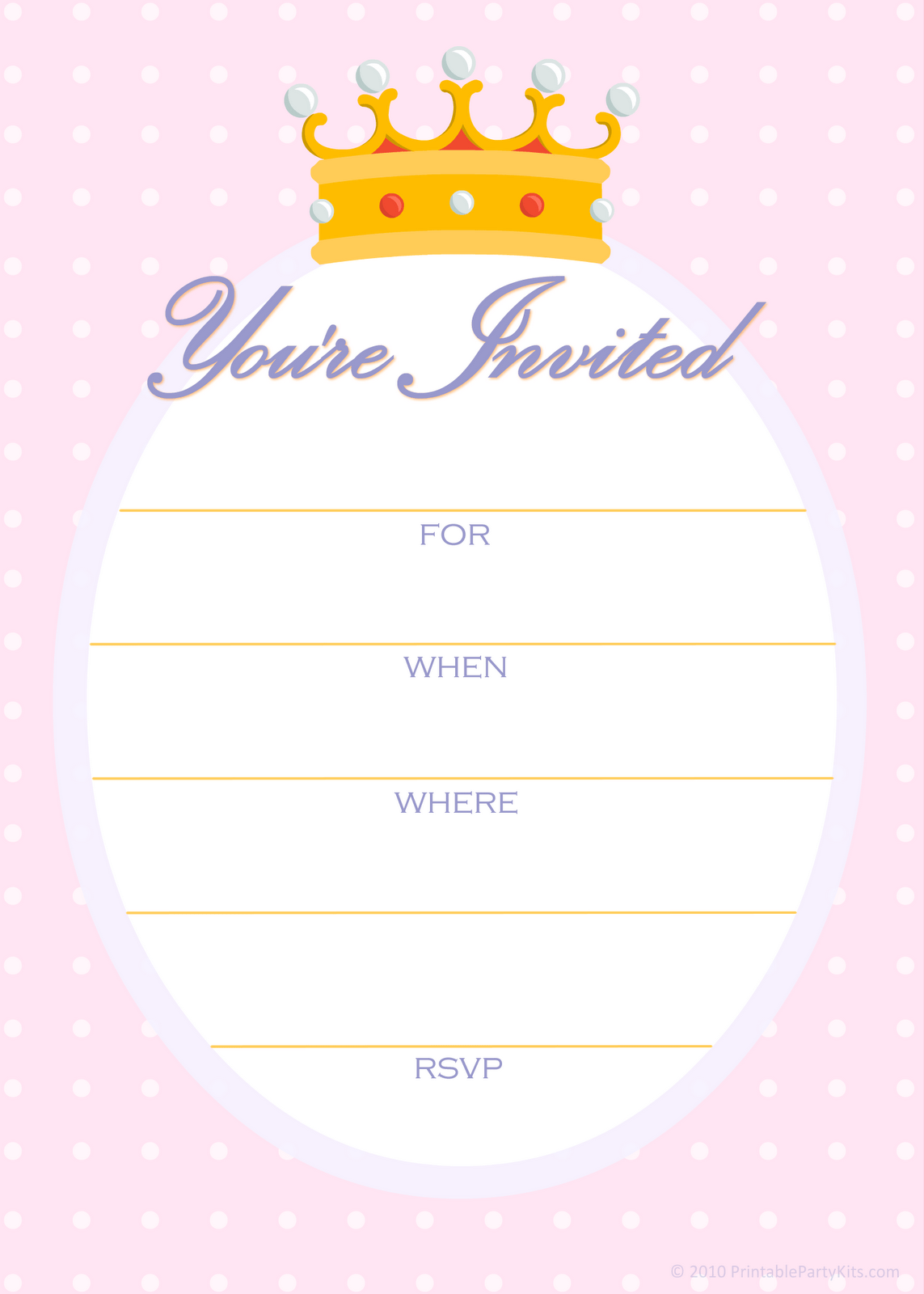 template for birthday invitation