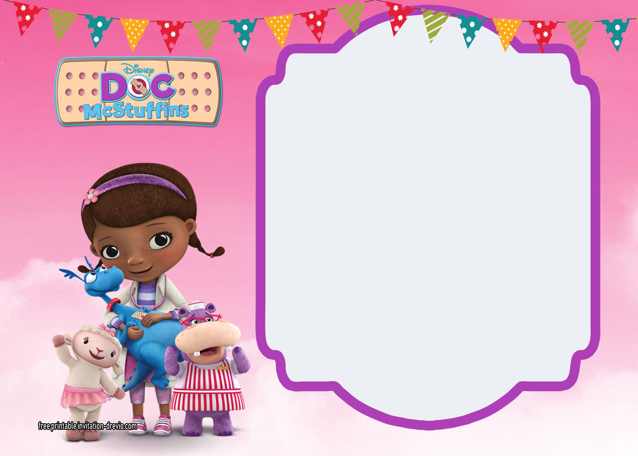 Doc McStuffins Birthday Invitation Templates FREE Invitation