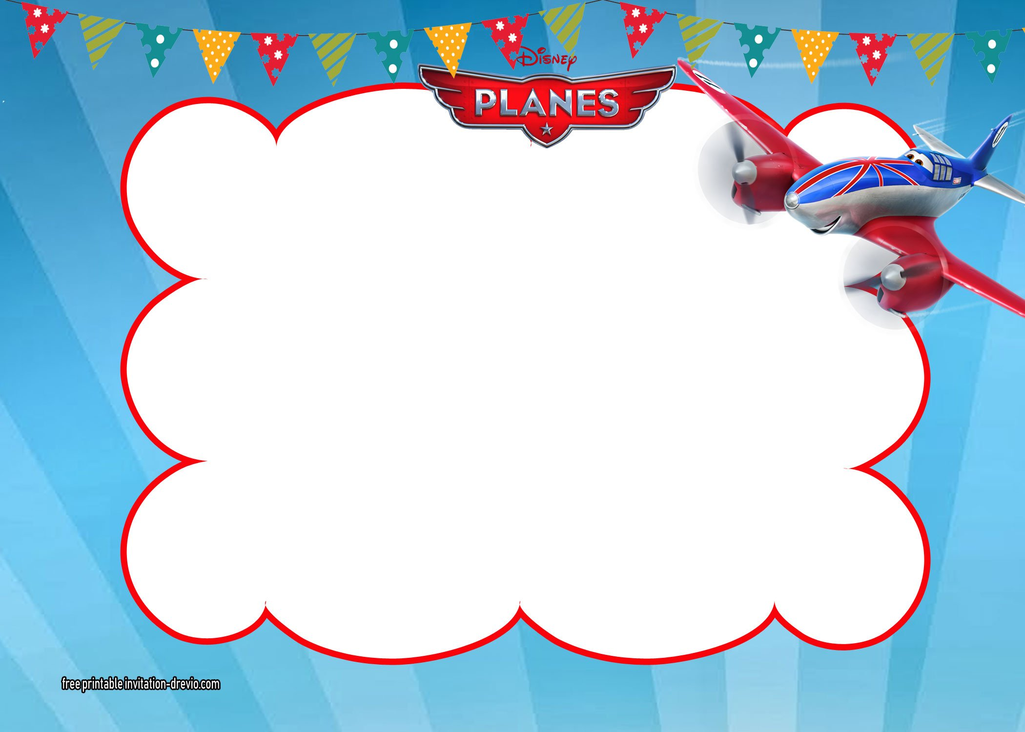 Disney Planes Invitations Templates | FREE Invitation Templates - Drevio