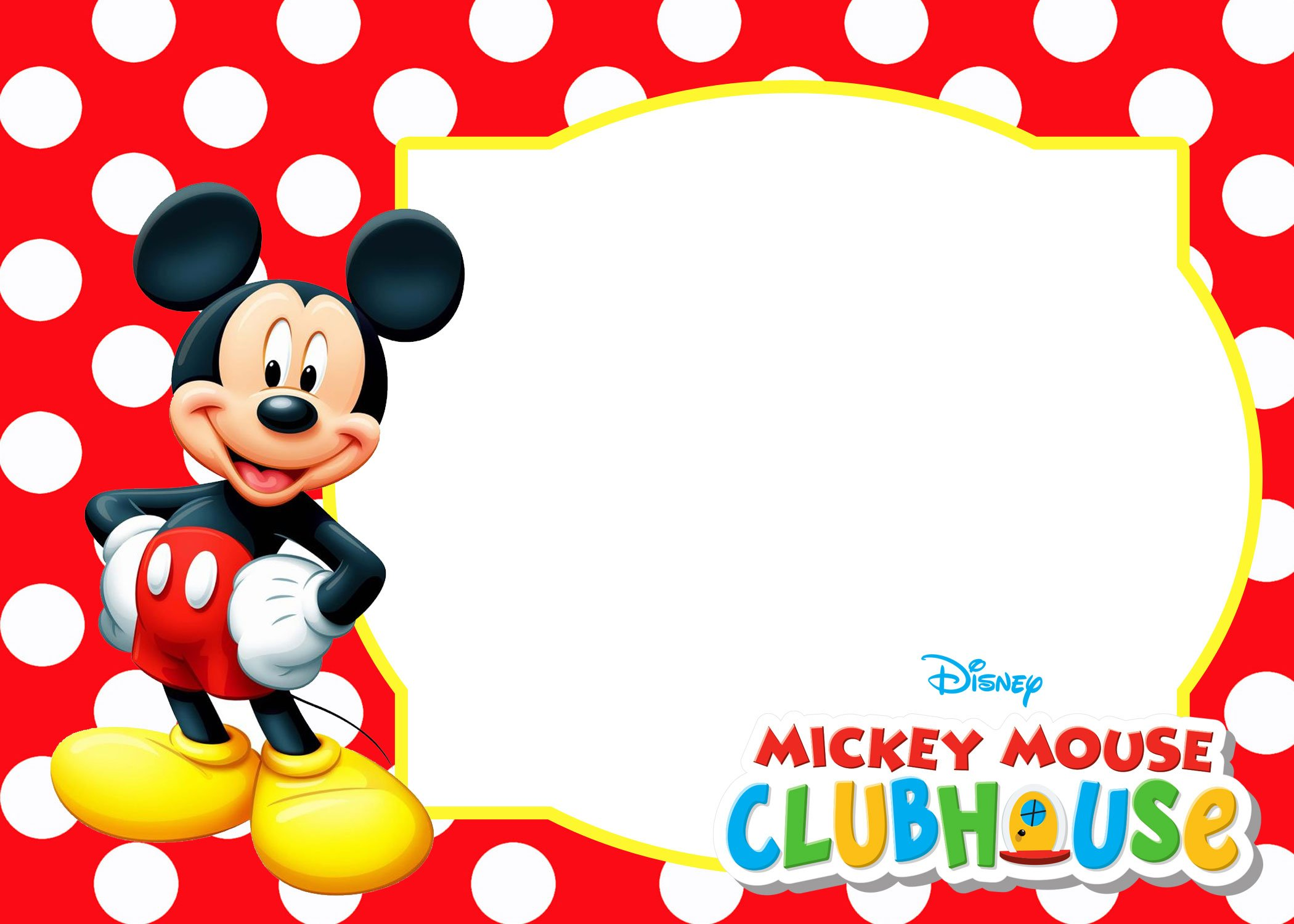 Mickey Mouse Polka Dot Invitation Templates | FREE ...