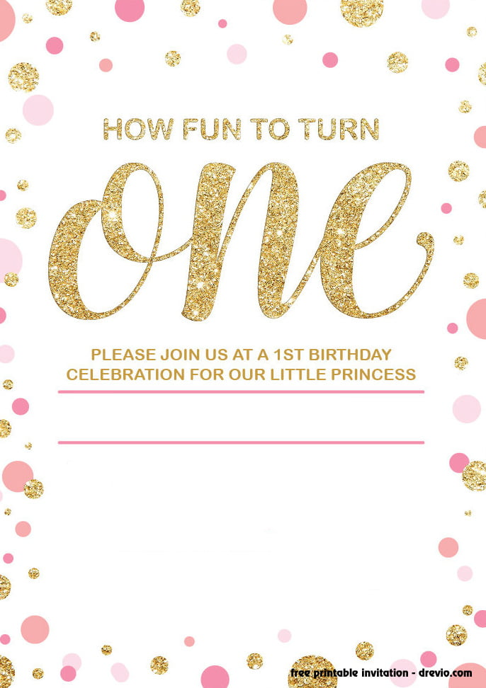 Get FREE Printable 1st Birthday Invitation Below Simply Click On That You Will See The Border Over There