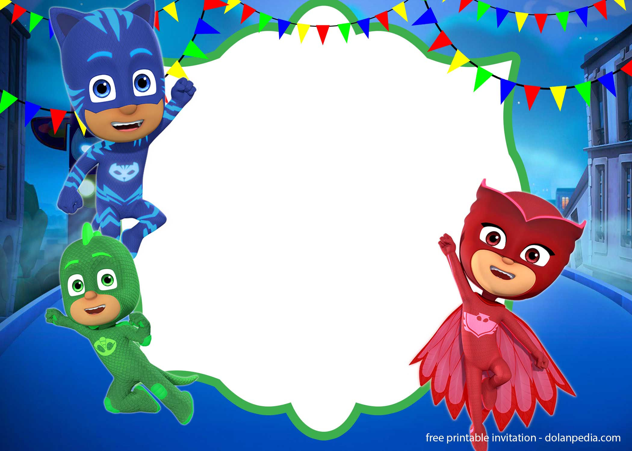 This is a picture of Transformative Pj Mask Template
