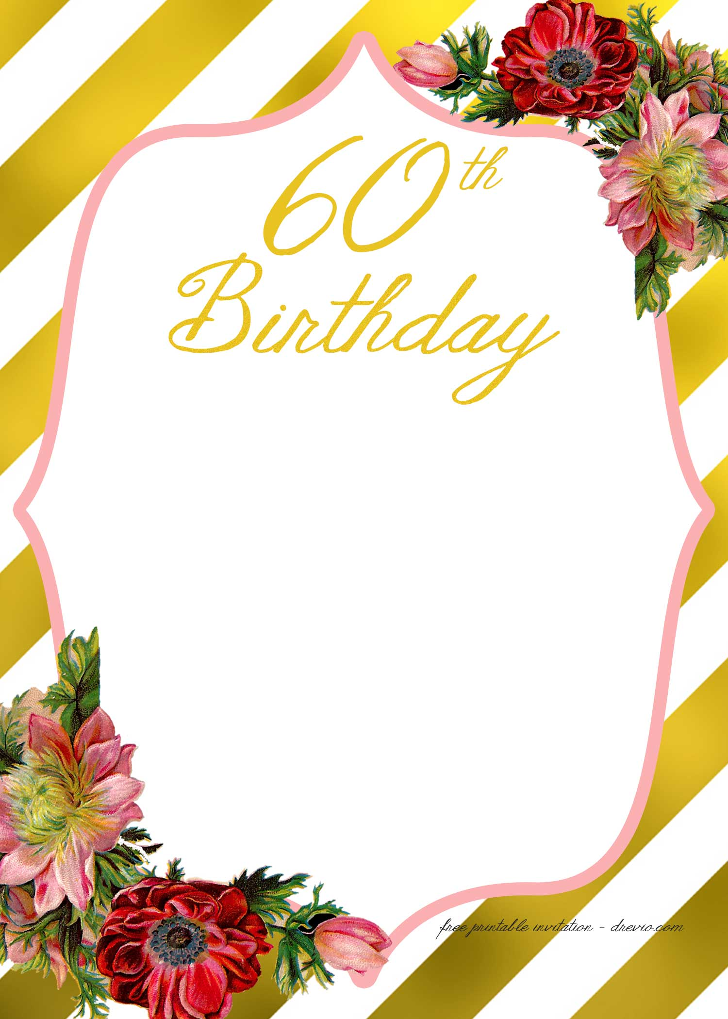 Adult Birthday Invitations Template – for 50th years old and up ...