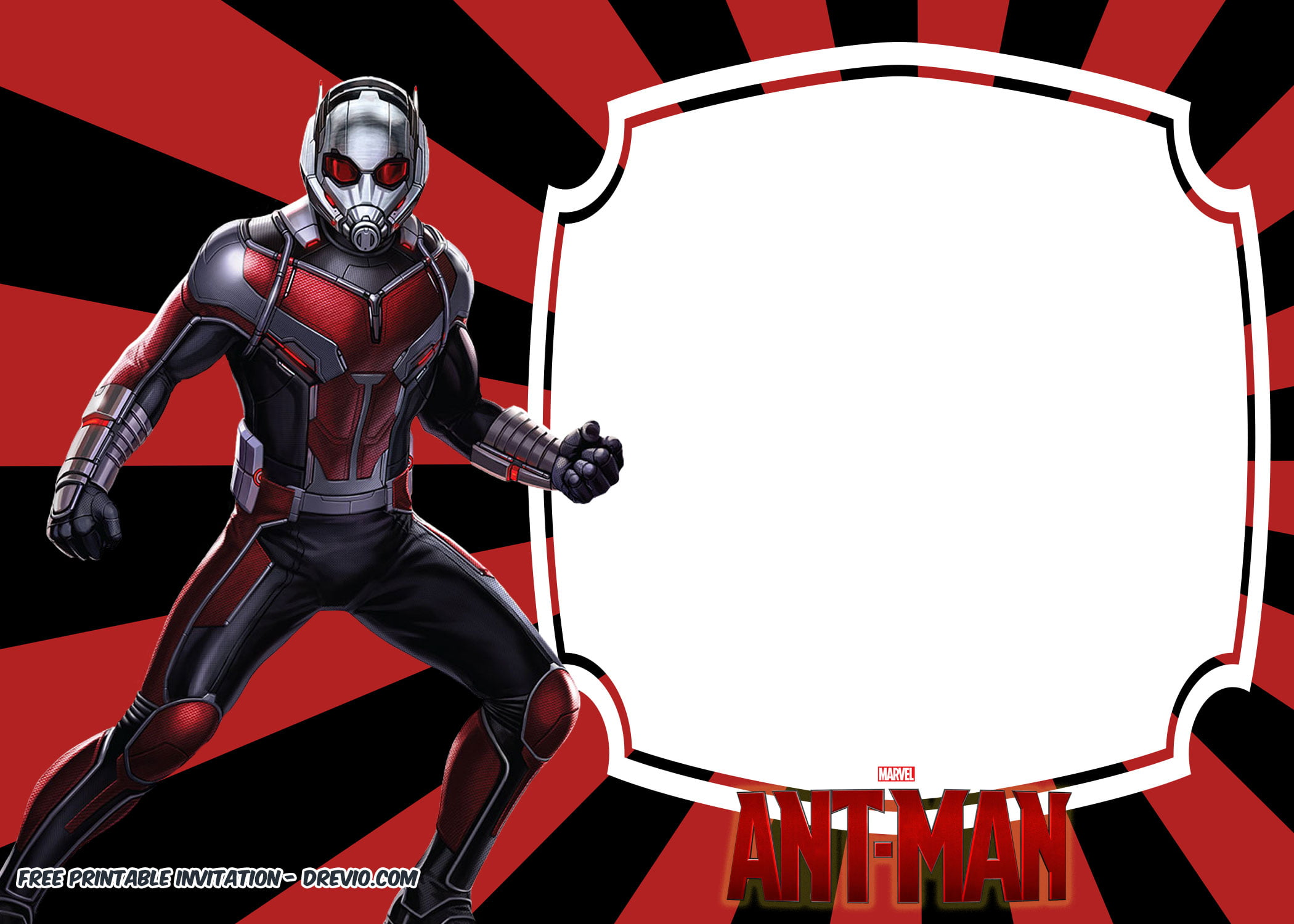 free printable ant man birthday invitation templates
