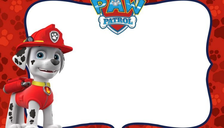 Free Marshall Paw Patrol Invitation Template Free
