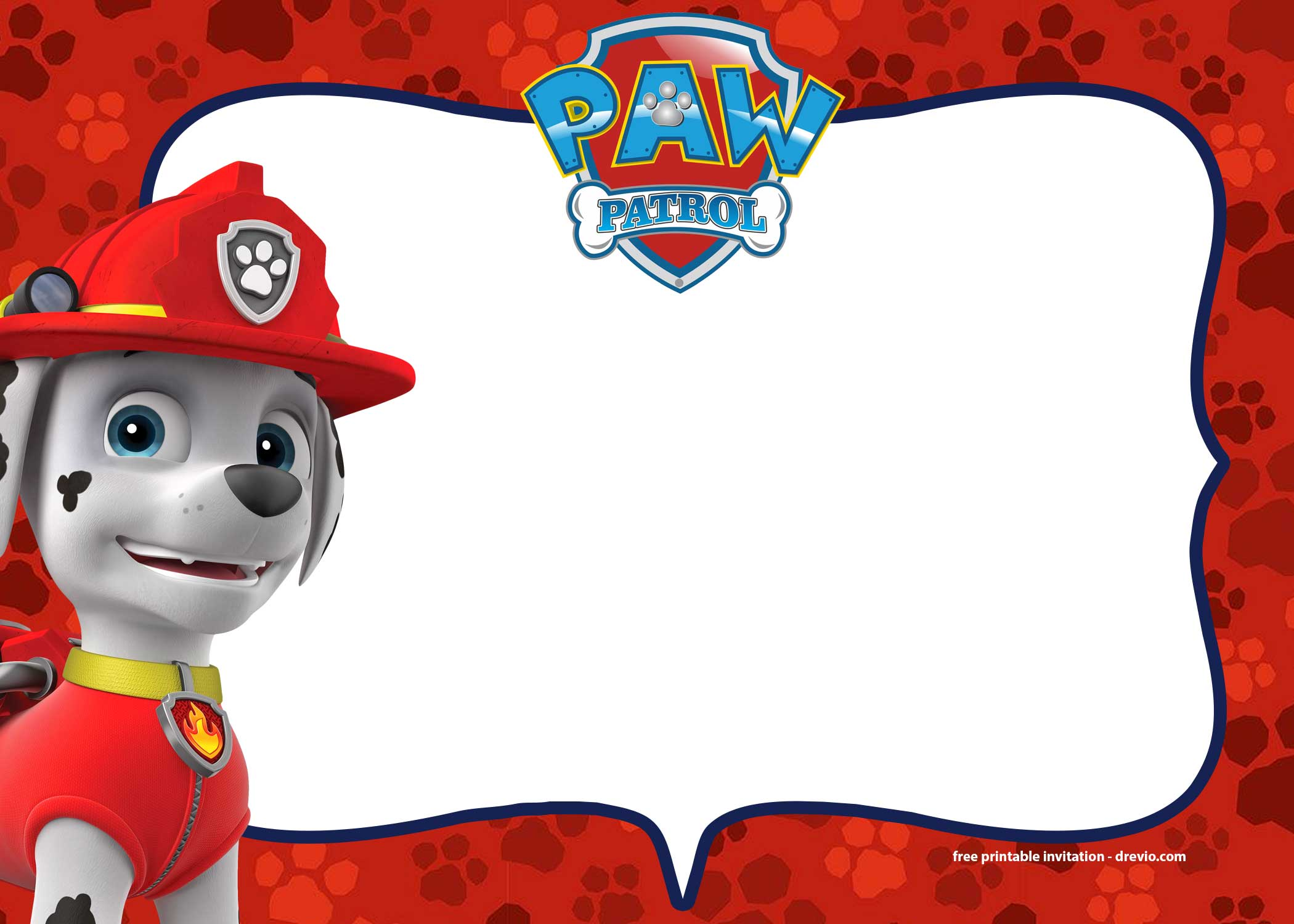 free paw patrol birthday invitations templates