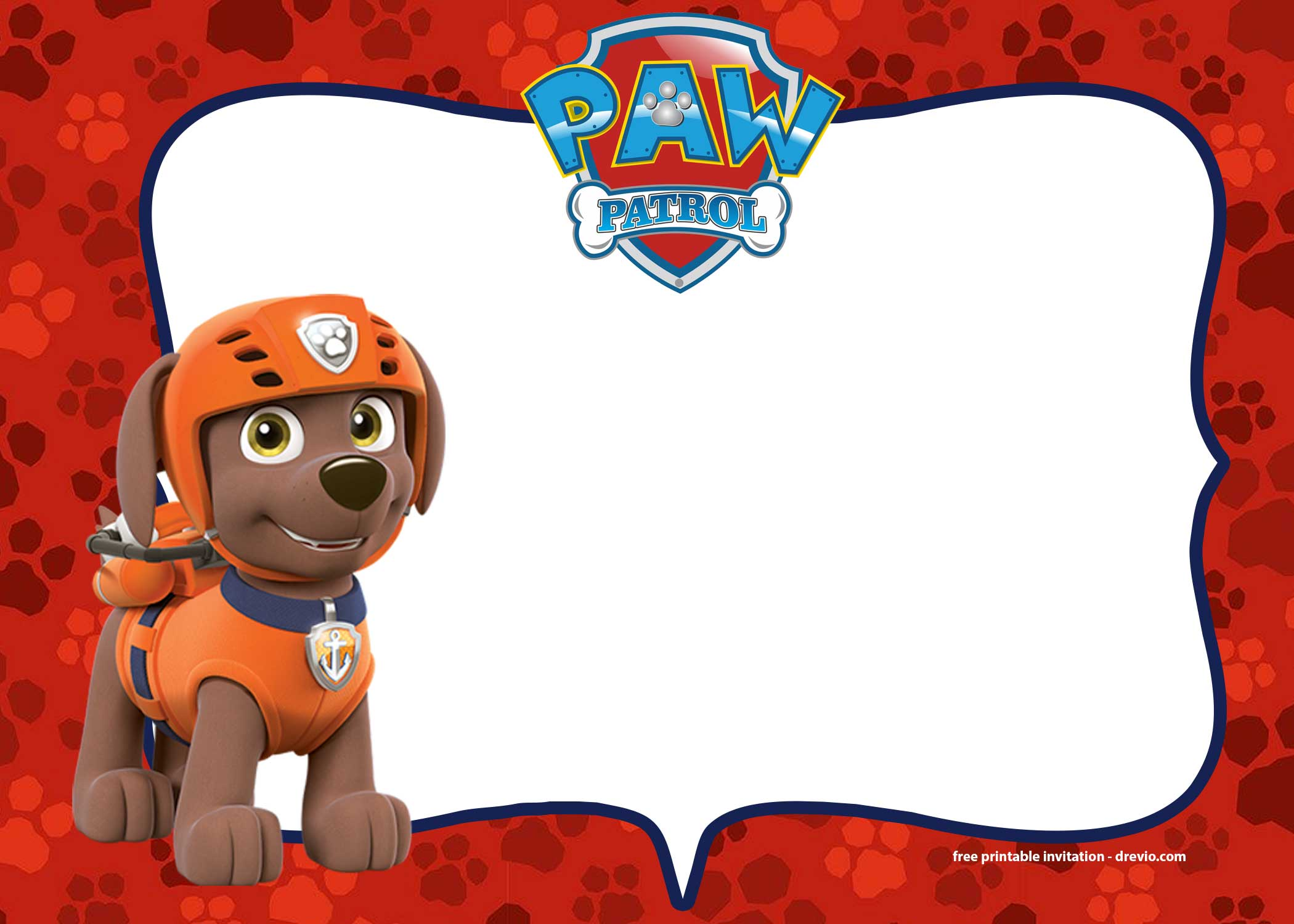 free paw patrol birthday invitations templates - free invitation templates