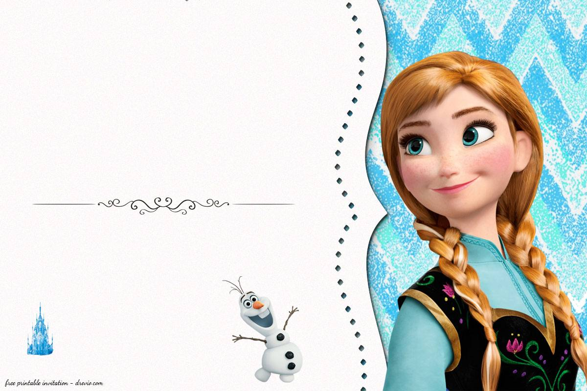 photograph relating to Frozen Printable Invitations identify No cost Frozen Birthday Invitation Templates - Totally free Invitation