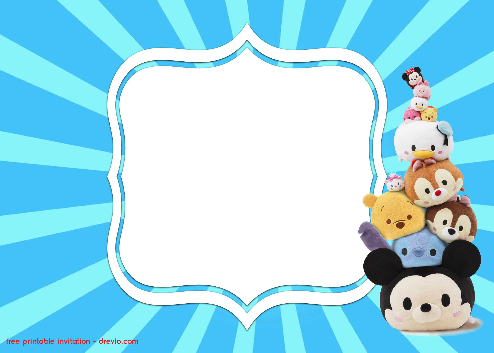 free printable disney tsum tsum invitation templates