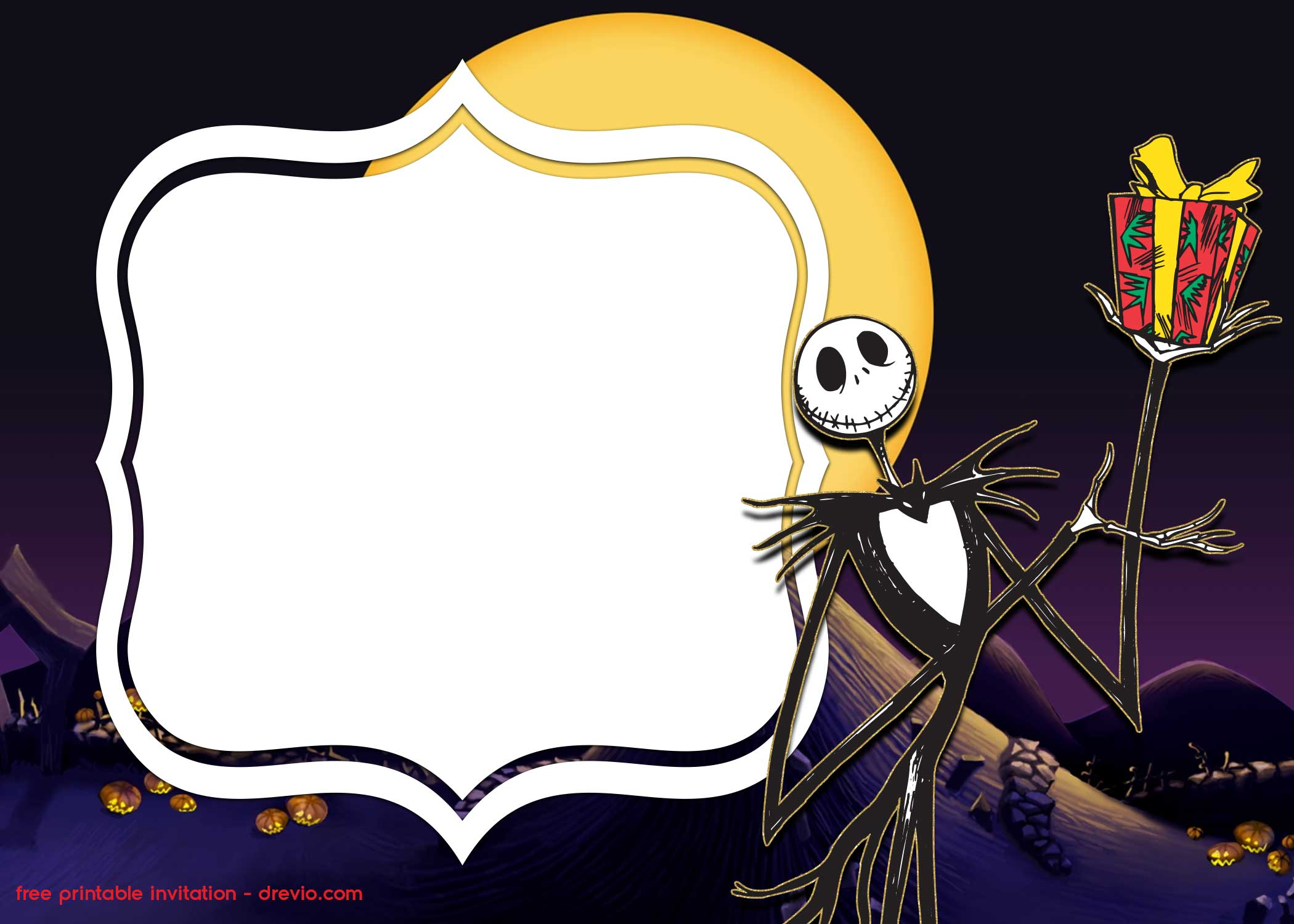 FREE Printable Jack Skellington Invitation Templates ...
