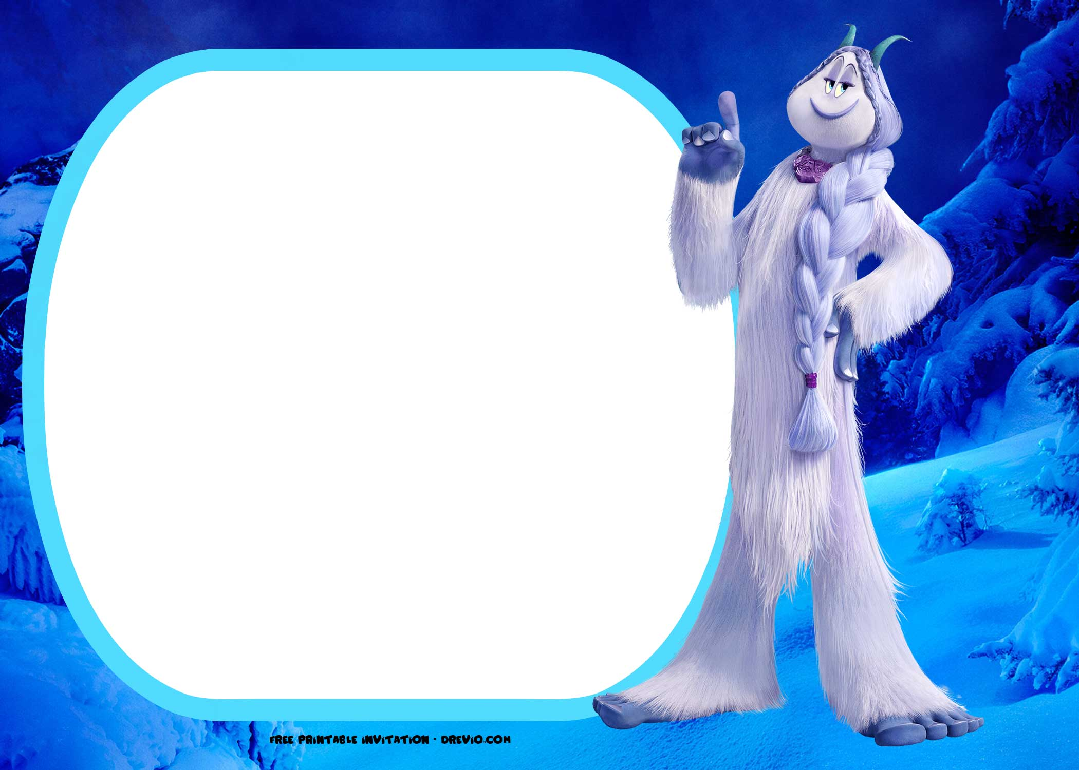 Free Smallfoot Movie Invitations Templates Drevio