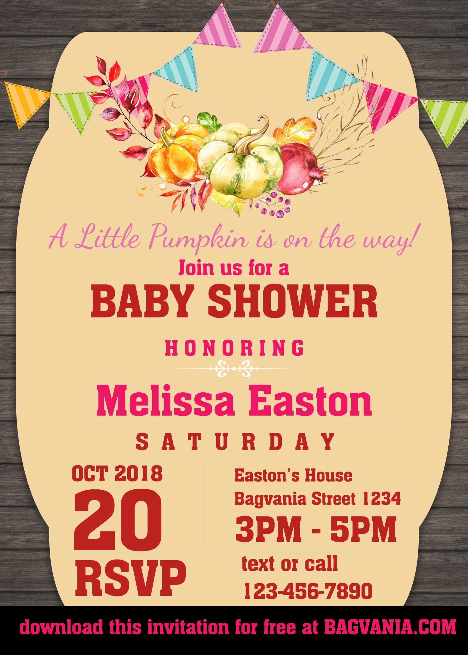 free pumpkins boho invitation templates  u2013 free printable birthday invitation templates