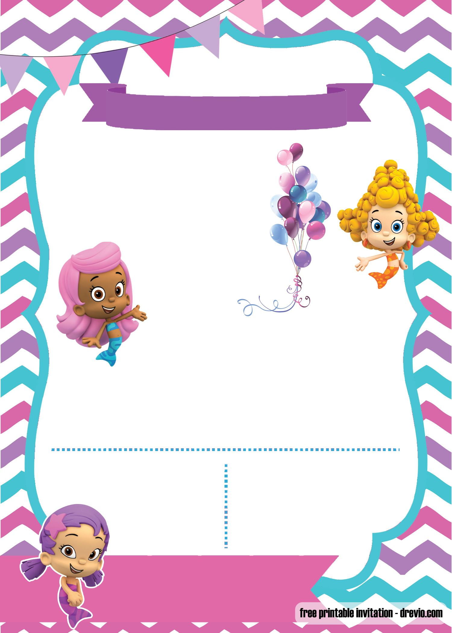 FREE Bubble Guppies invitation template - FREE PRINTABLE ...
