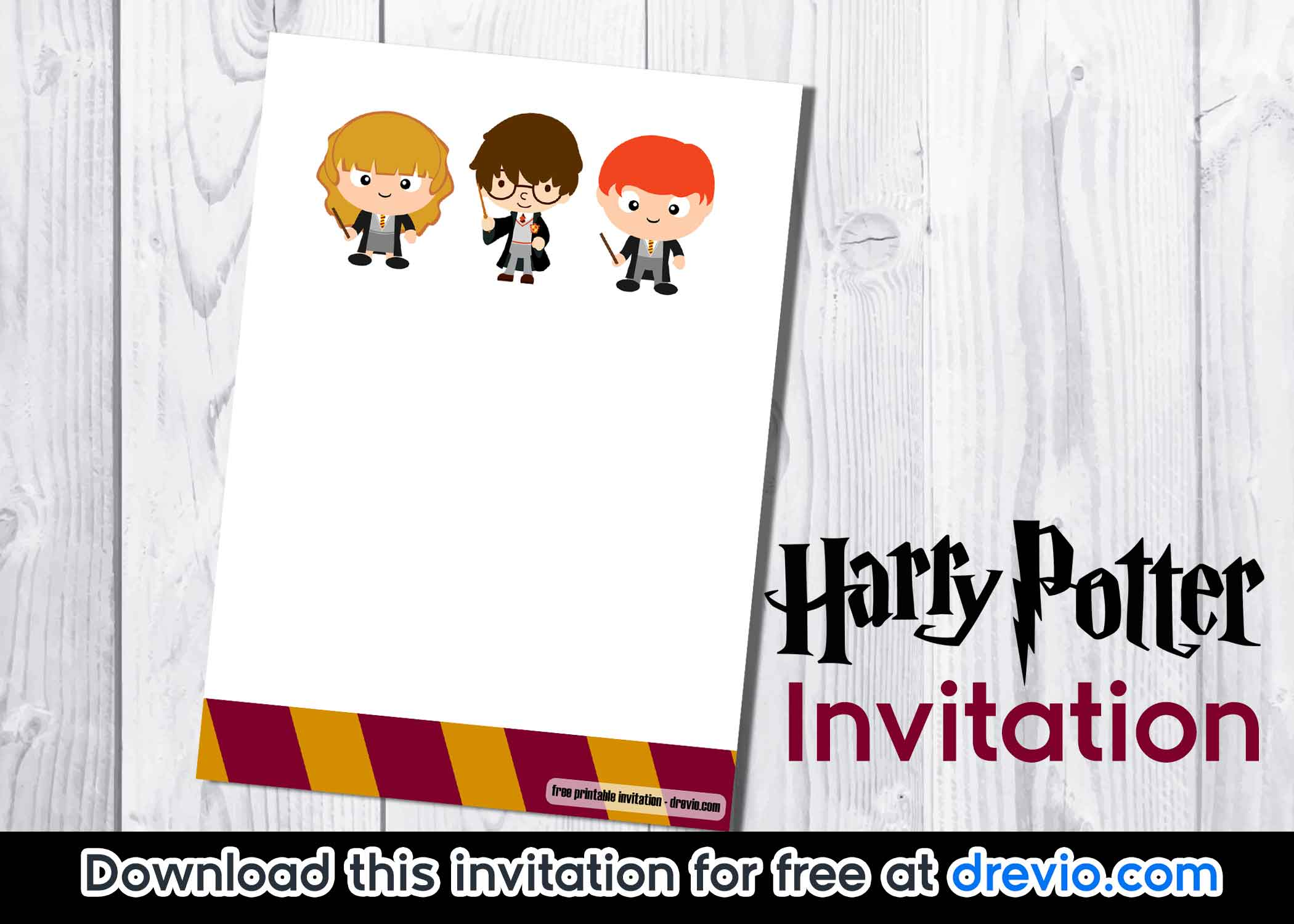 photo relating to Harry Potter Stencils Printable titled Free of charge Printable Harry Potter Invitation Template - Absolutely free