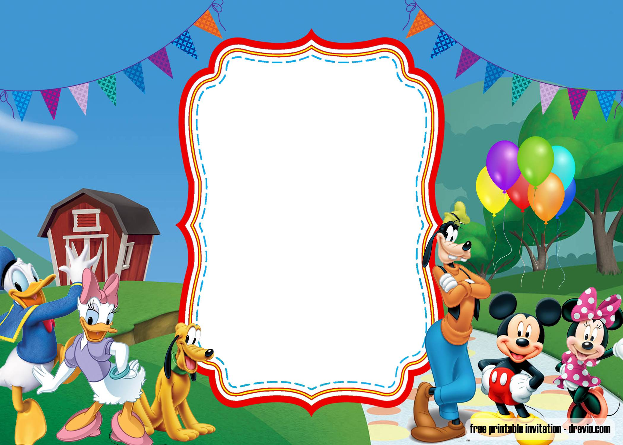 graphic about Printable Luau Invitations referred to as Totally free Printable Mickey Mouse Luau invitation template Free of charge