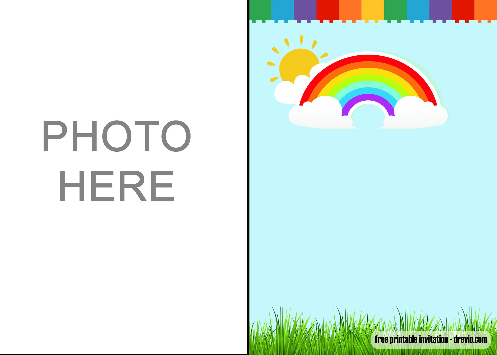 Free Download Rainbow Party Invitations  Download Hundreds FREE