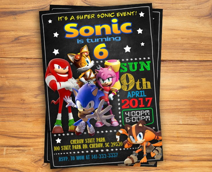 Free Printable Sonic The Hedgehog Invitation Template Drevio