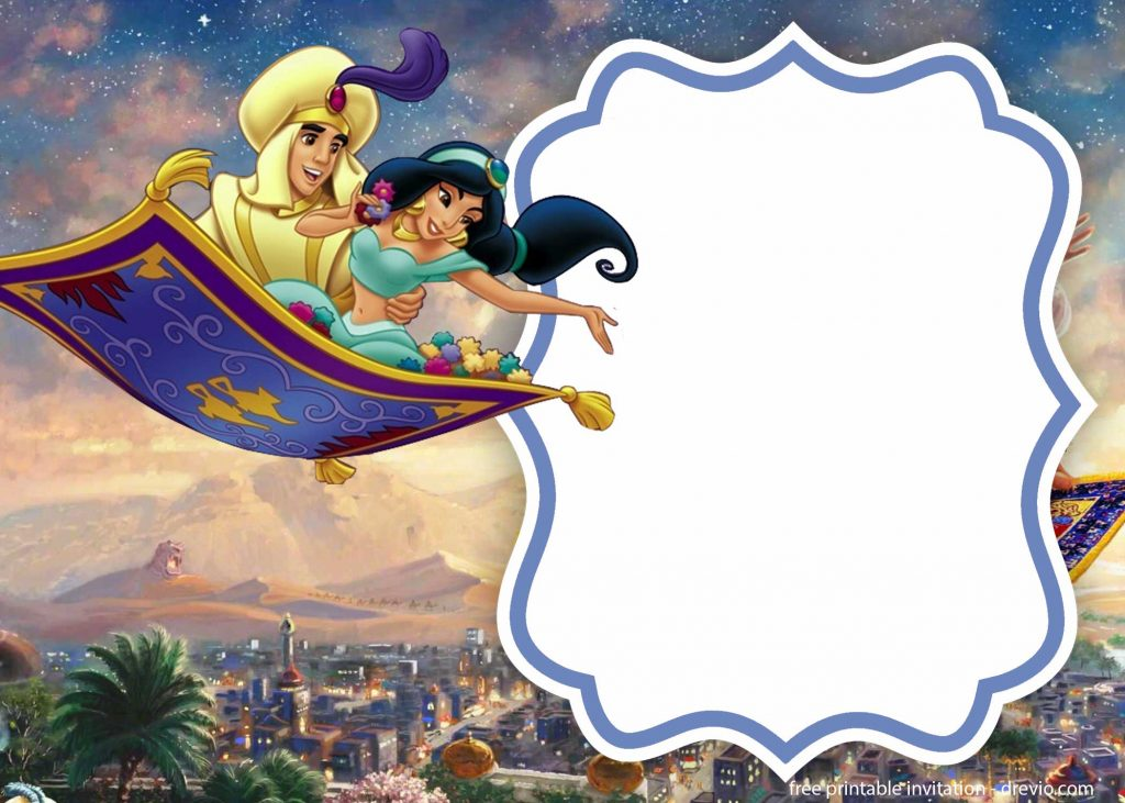 free printable aladdin invitation templates