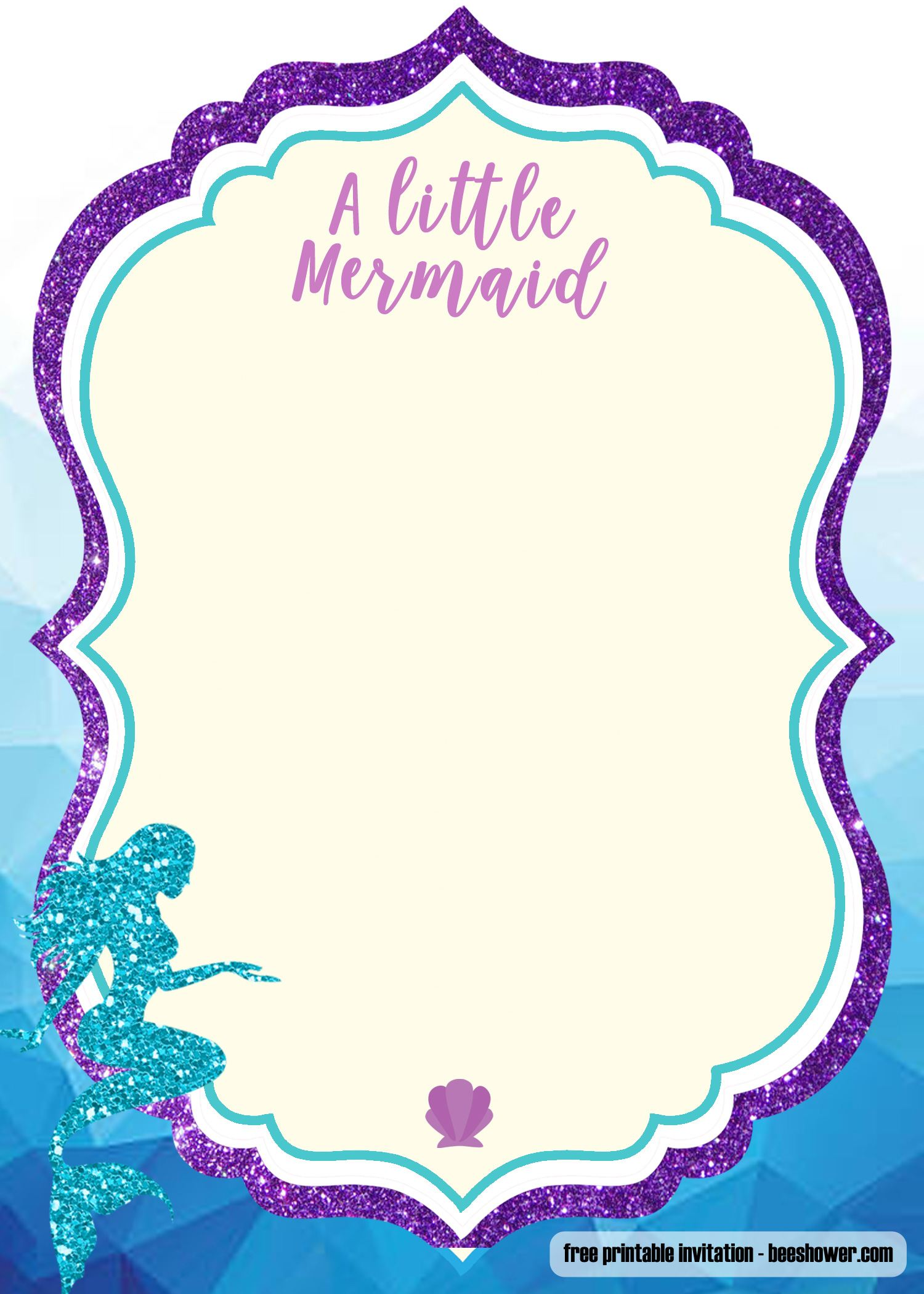 Candid image throughout free printable mermaid template
