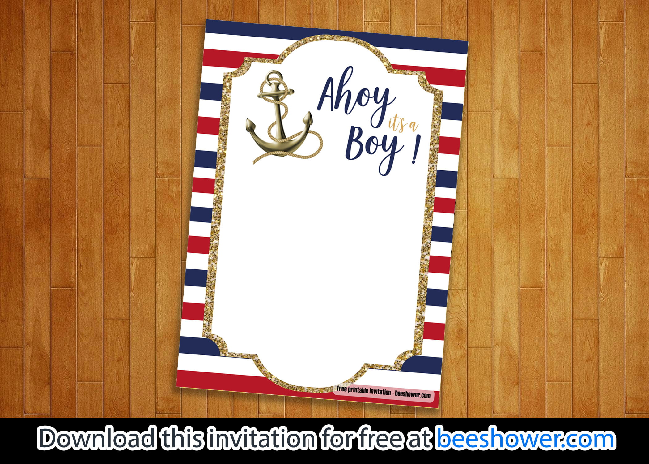 photo relating to Nautical Baby Shower Invitations Printable identify Cost-free Nautical Boy or girl Shower Invites Templates - Totally free
