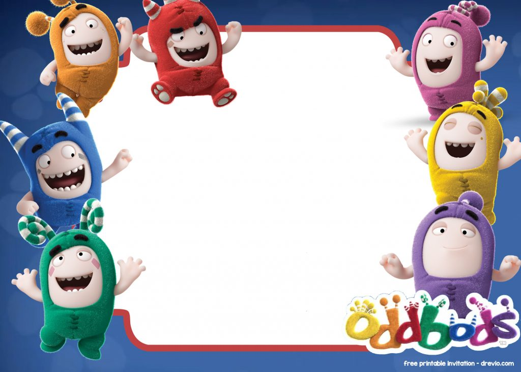 free printable oddbods invitation templates - free invitation templates