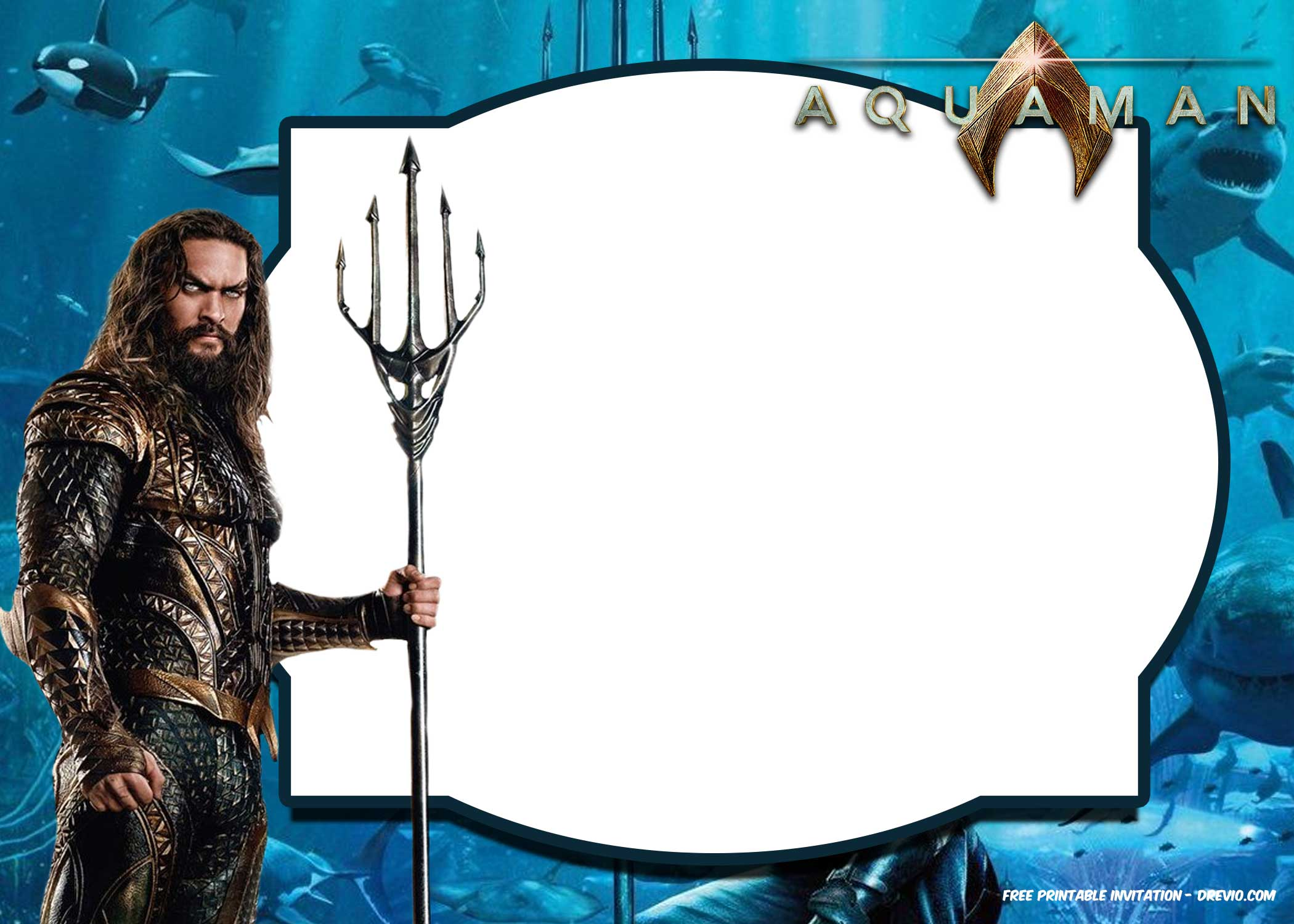 FREE Printable Aquaman Invitation Templates | FREE ...