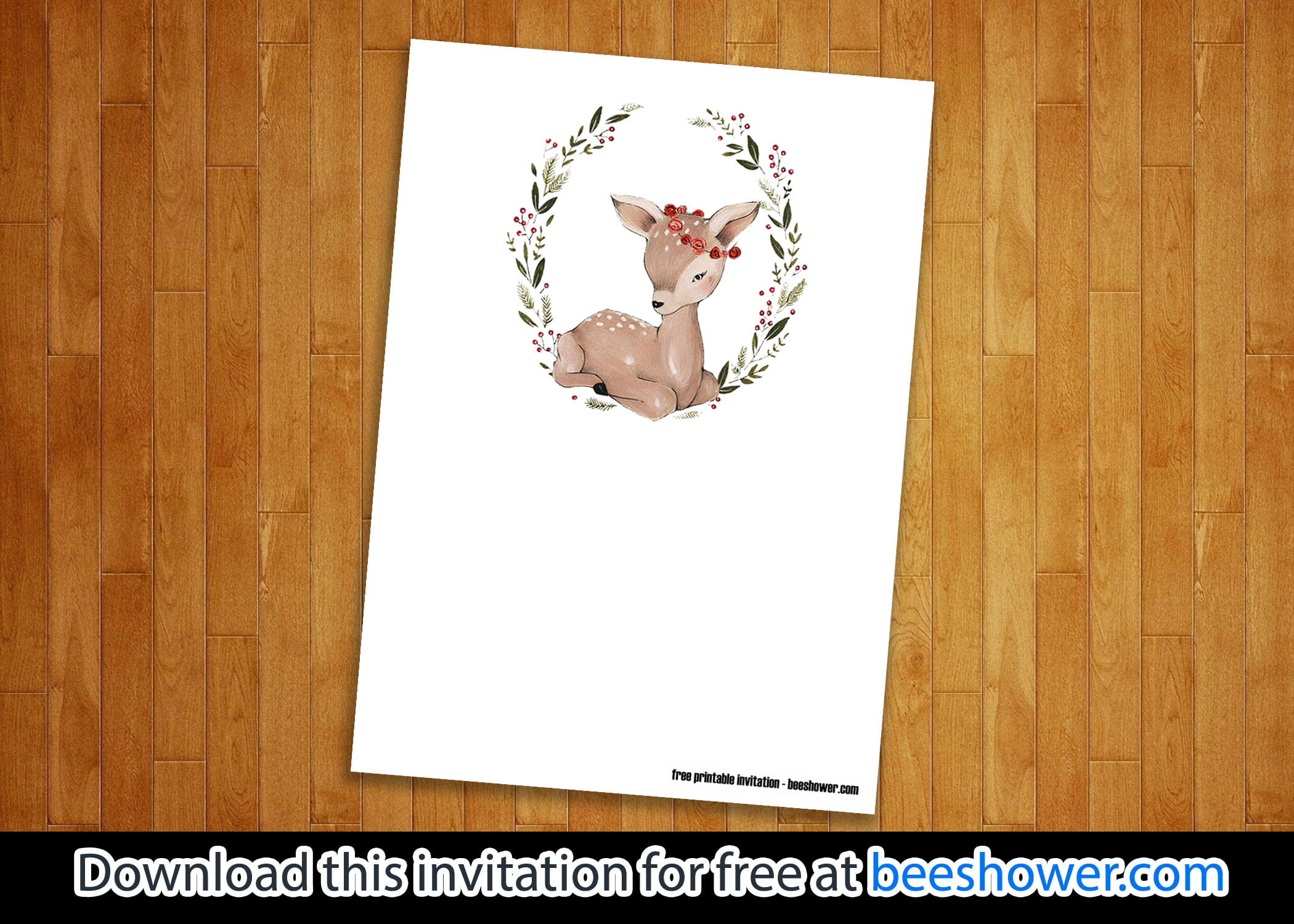 photograph regarding Free Printable Woodland Baby Shower Invitations named Free of charge Woodland Invitation Templates - Free of charge Invitation