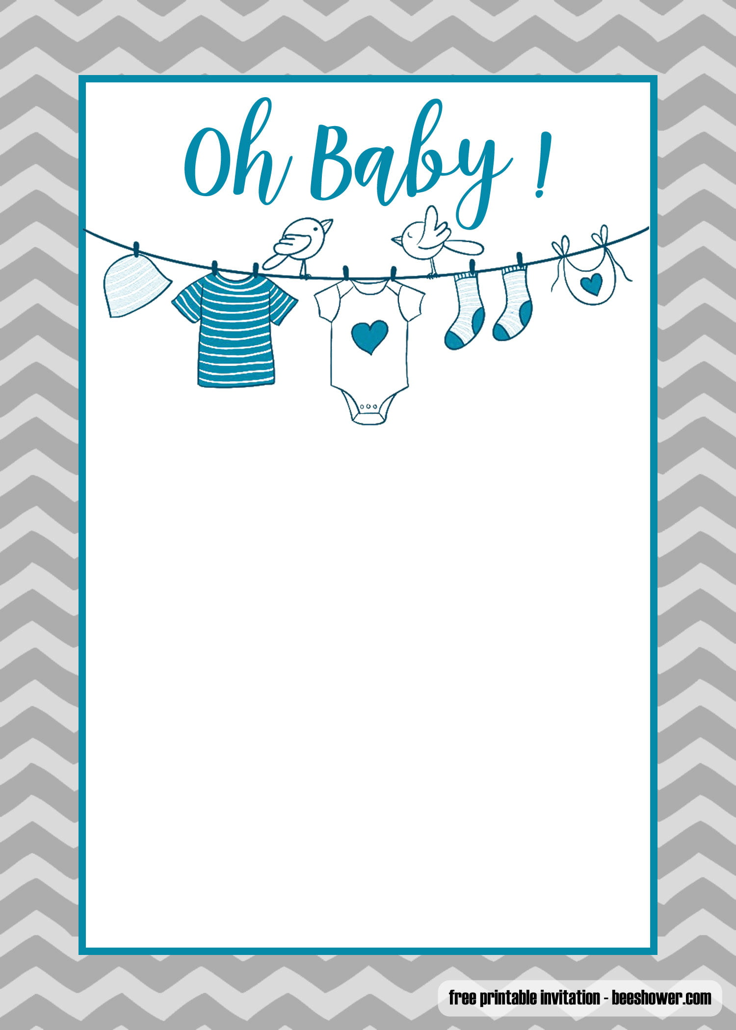 Old Fashioned image throughout baby shower templates printable