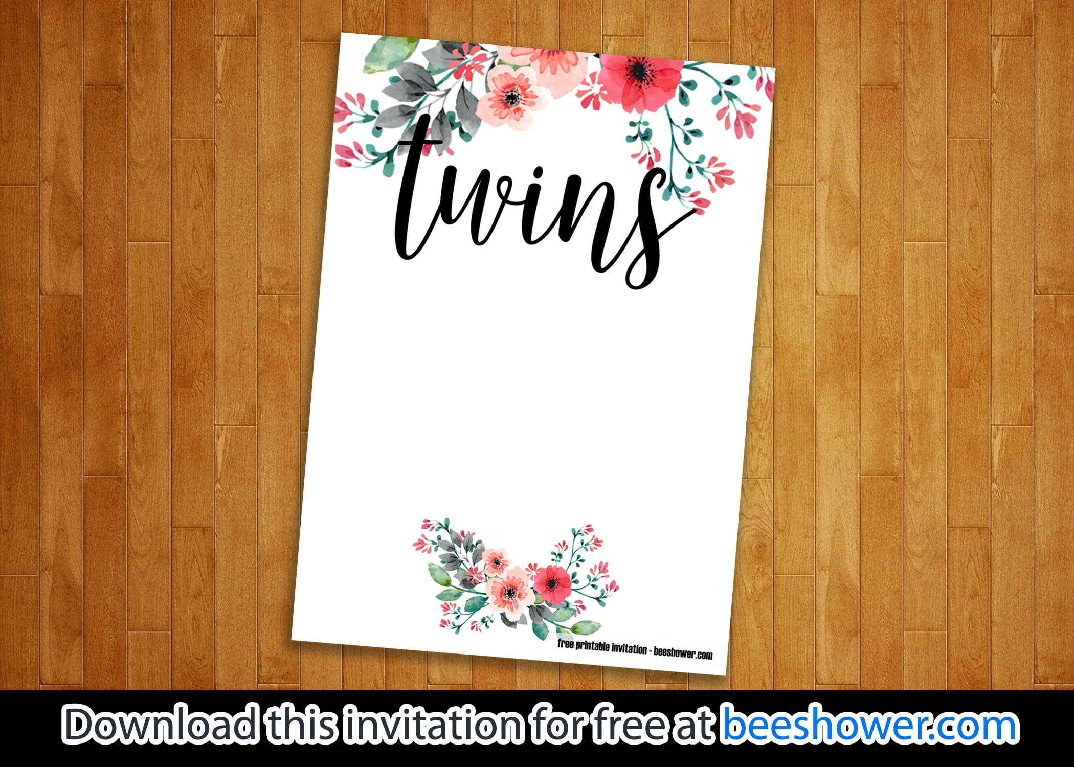 graphic regarding Free Printable Twin Baby Shower Invitations named Absolutely free Printable Dual Youngster Shower Invites Templates - Free of charge