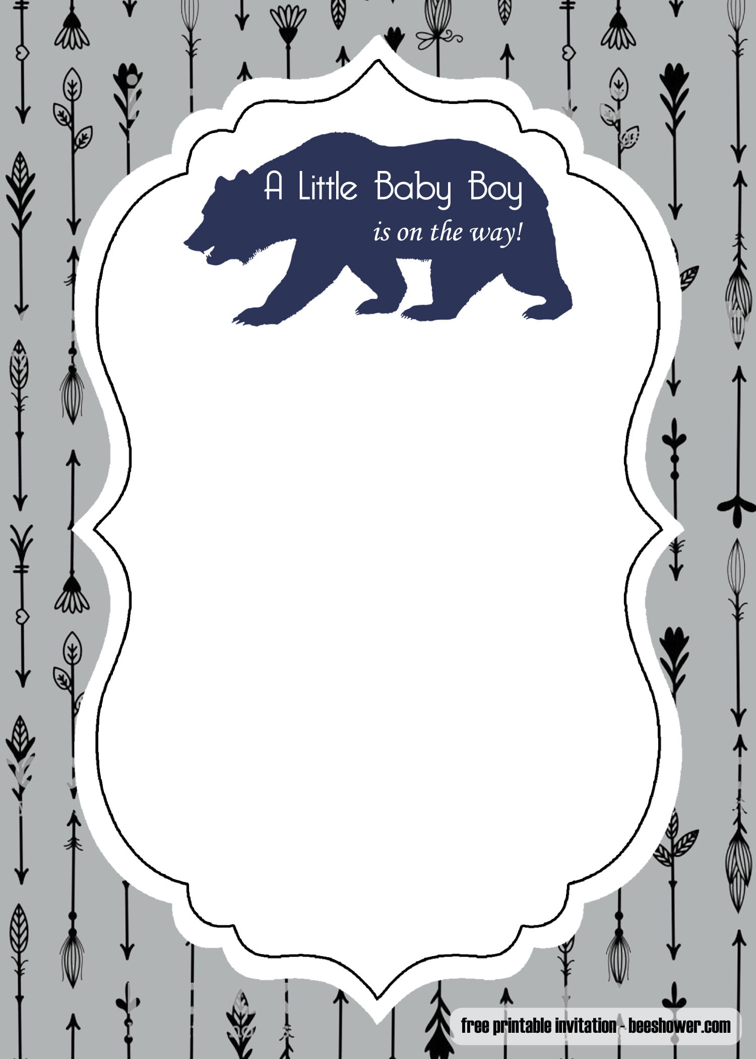 picture relating to Free Printable Blank Baby Shower Invitations called No cost Experience Awaits Youngster Shower Invitation Template - Absolutely free