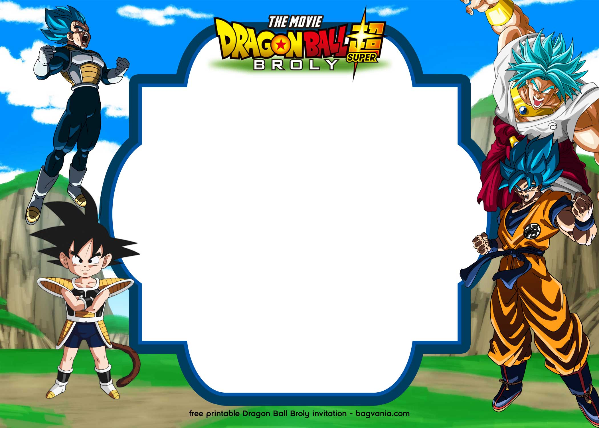 15 free printable dragon ball super   broly invitation templates