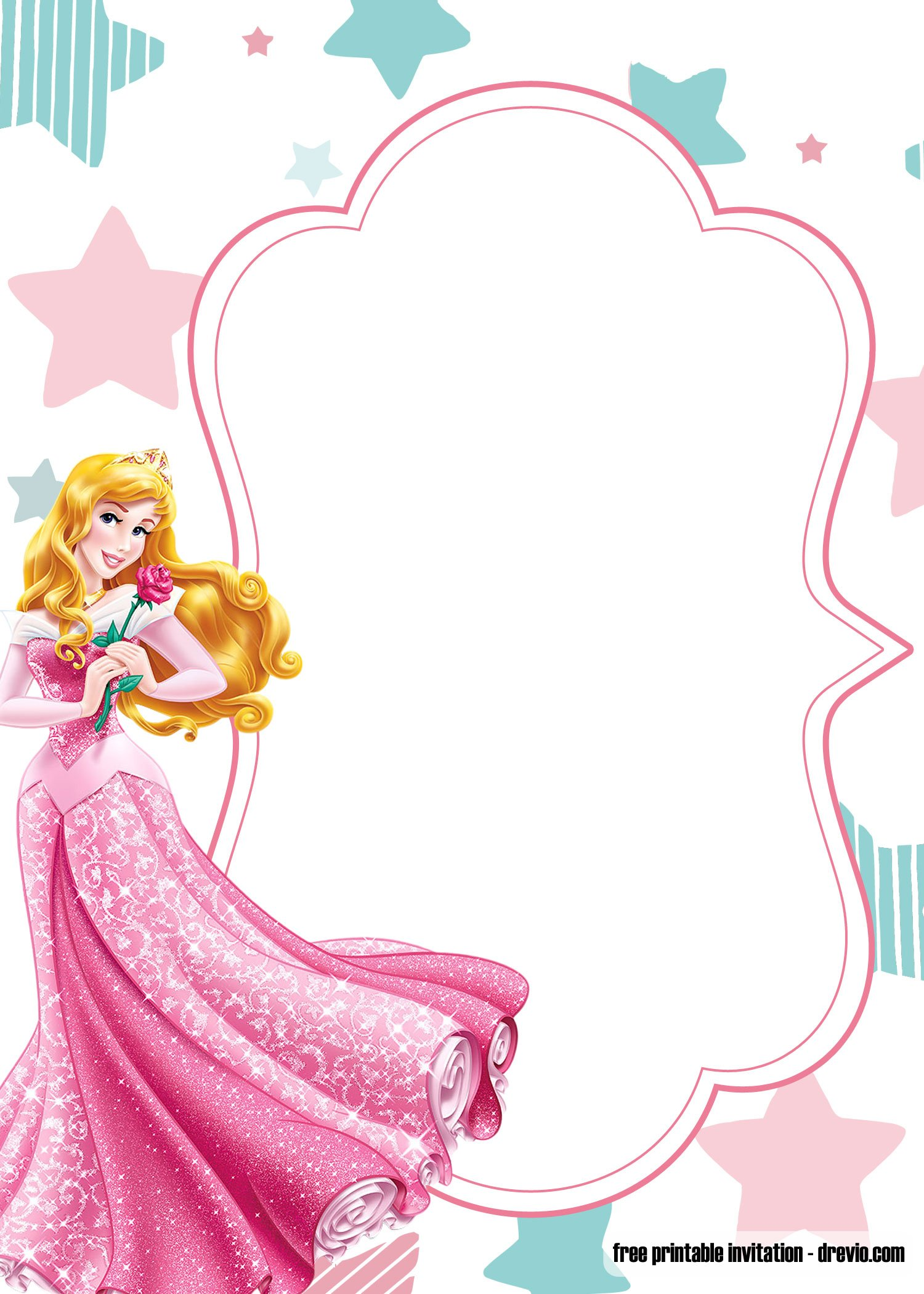 free printable princess birthday invitation templates