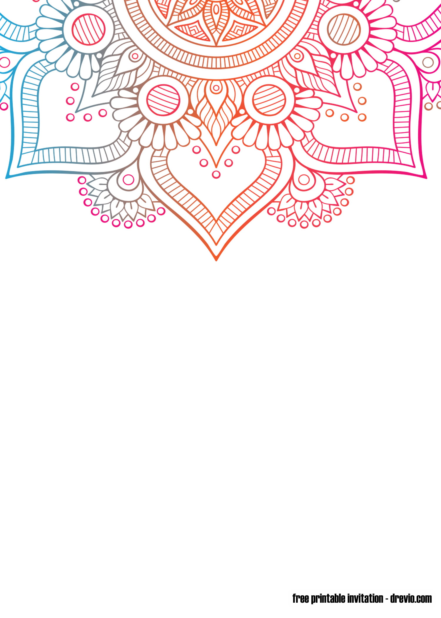 free printable mandala yoga invitation templates  u2013 free