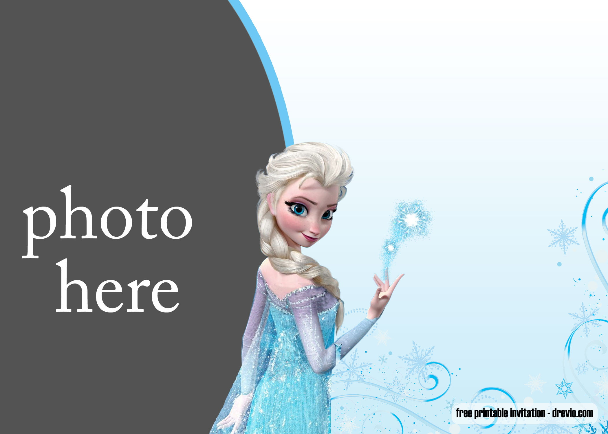 Free Printable Elsa Frozen Invitation Templates Free Invitation