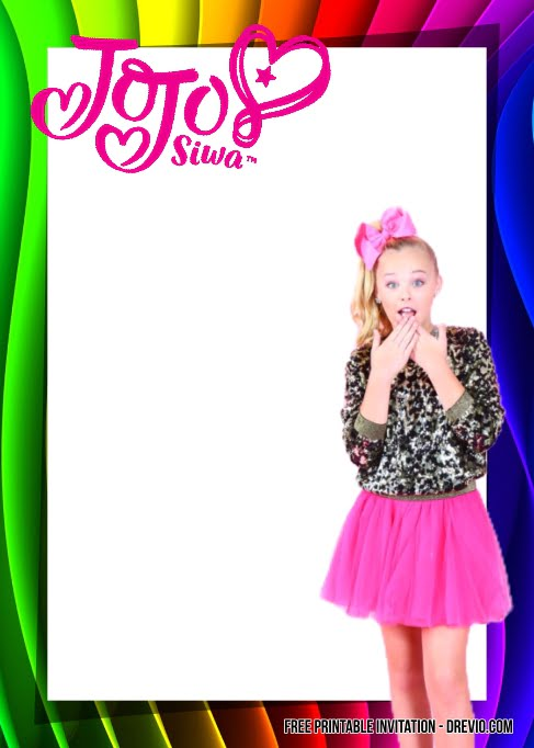 free jojo siwa birthday invitation templates
