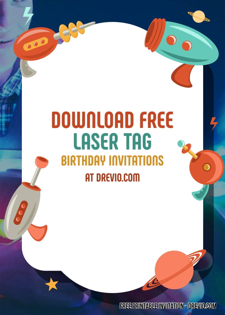 photo regarding Laser Tag Birthday Invitations Free Printable referred to as Cost-free Laser Tag Birthday Invitation Templates - No cost