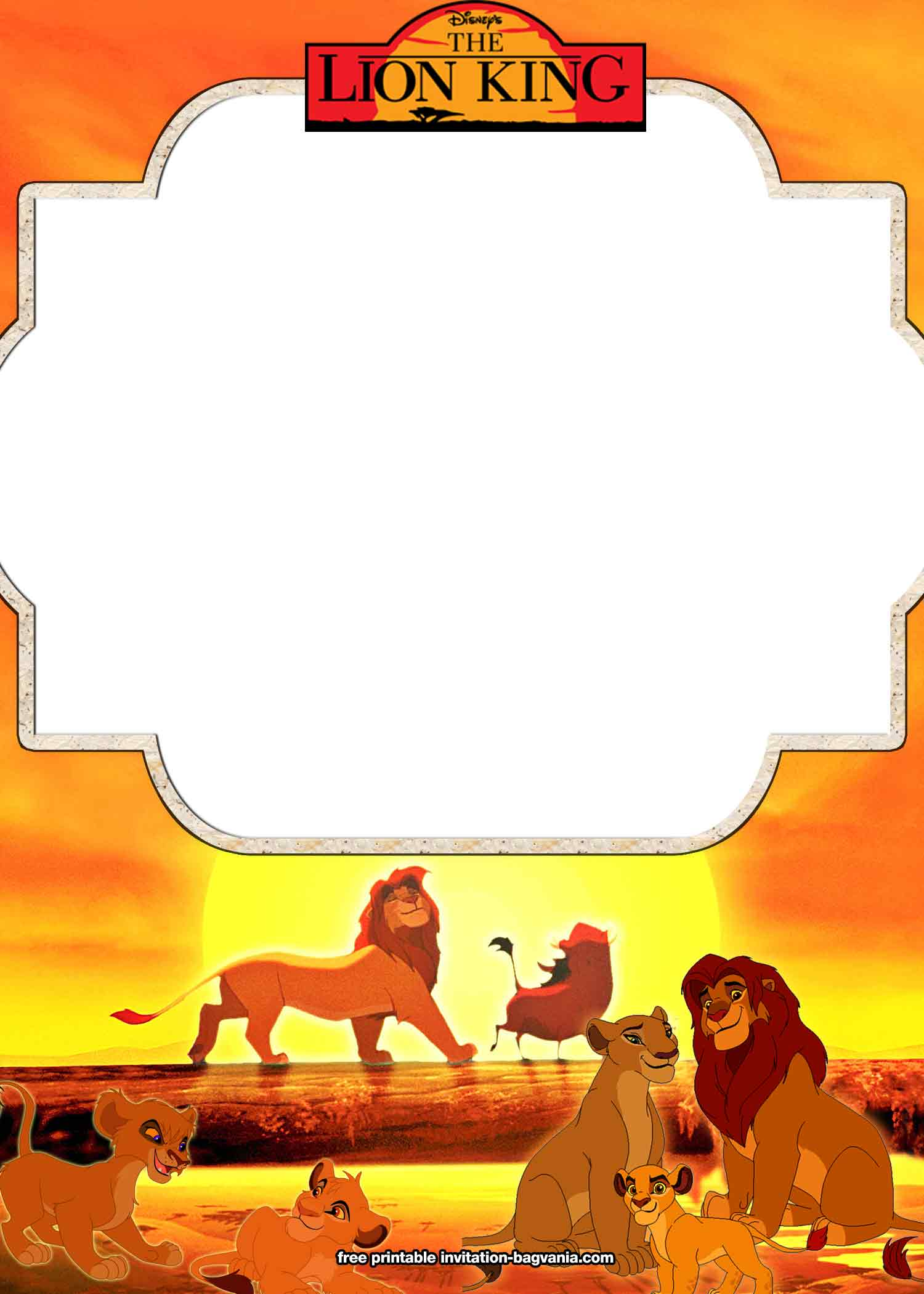 8  free printable lion king invitation templates