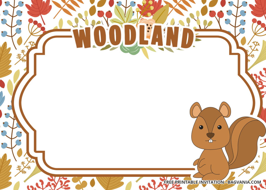 picture about Free Printable Woodland Animal Templates identify 10 + Cost-free Printable Woodland Invitation Templates - Totally free