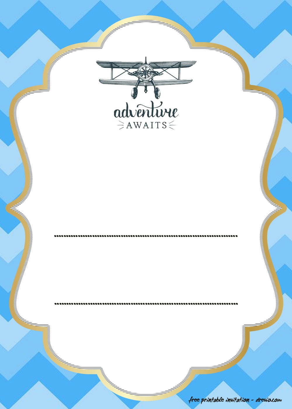 5+ FREE Printable Airplane Invitation Templates  DREVIO
