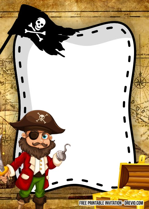 FREE Pirate Invitation templates - jack2