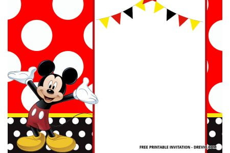picture regarding Free Printable Mickey Mouse Birthday Invitations called Totally free Mickey Mouse Birthday Invitation Templates - Most up-to-date
