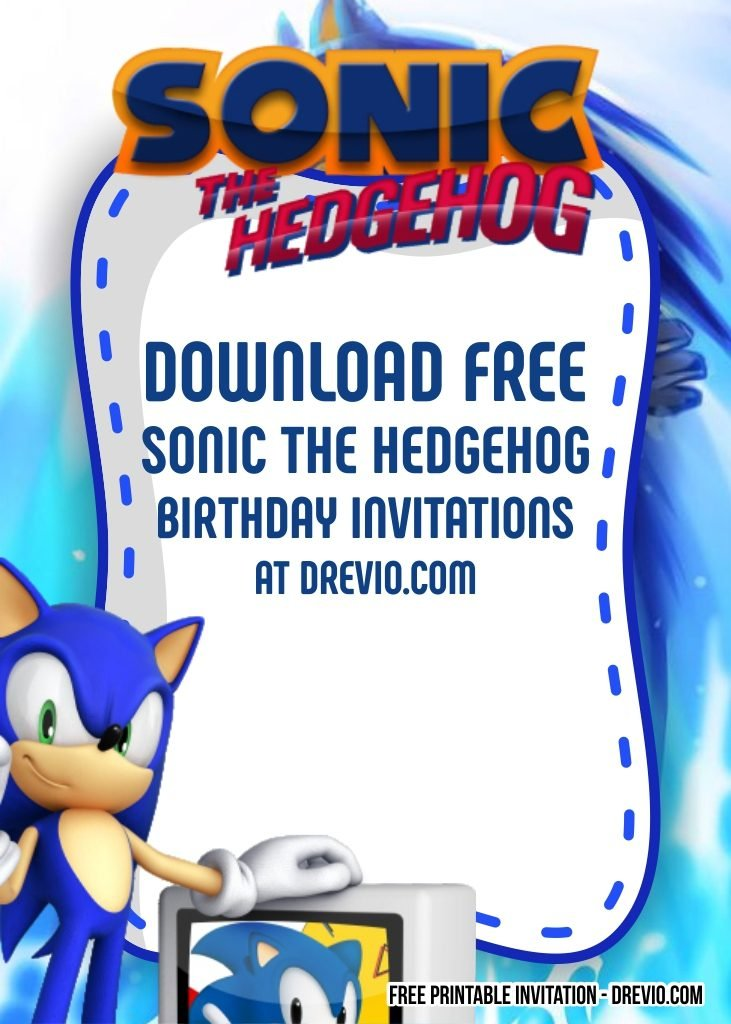 Free Sonic The Hedgehog Invitation Template Drevio