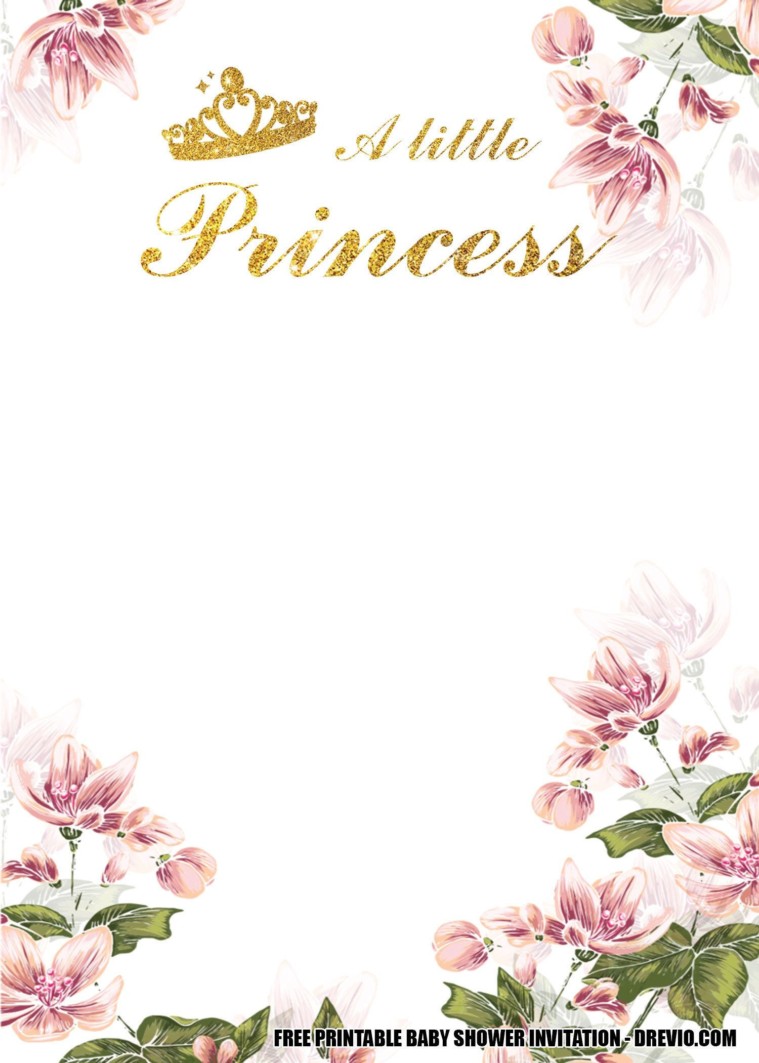 Awe Inspiring Free Floral Princess Baby Shower Get The Beautiful Invitation Personalised Birthday Cards Paralily Jamesorg