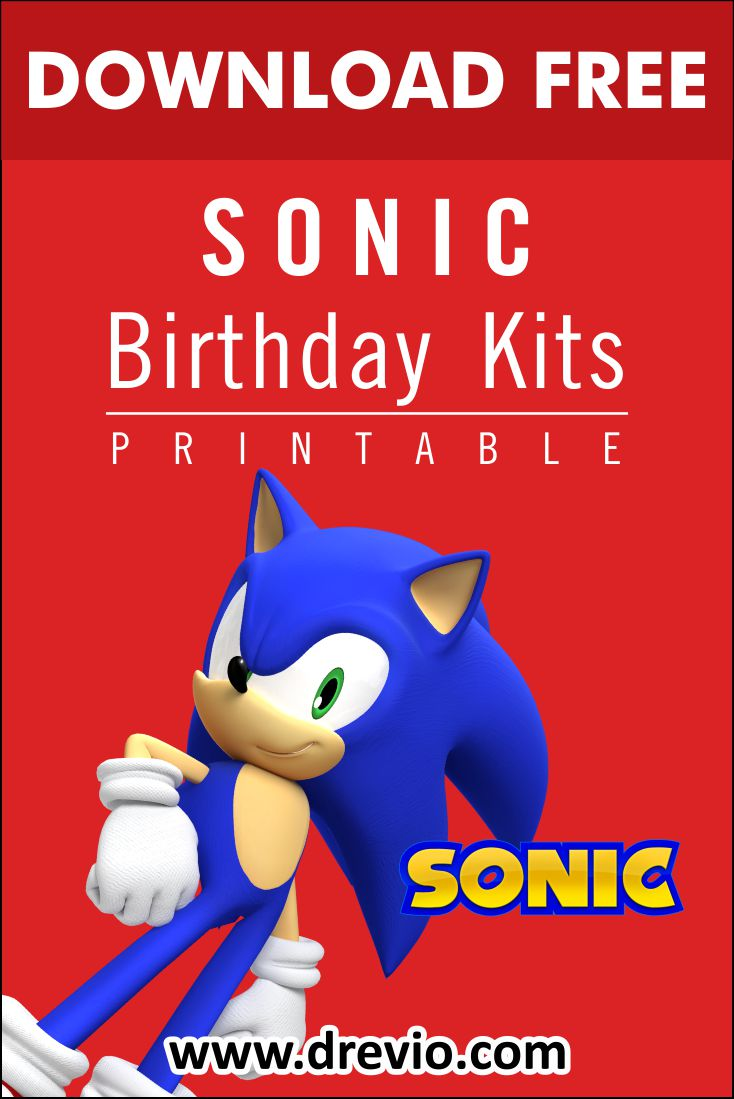 Free Printable Sonic The Hedgehog Birthday Party Kits Templates Free Printable And Agile Drevio